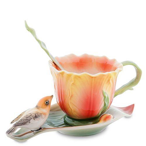 Чайная пара Pavone Тюльпаны, фото