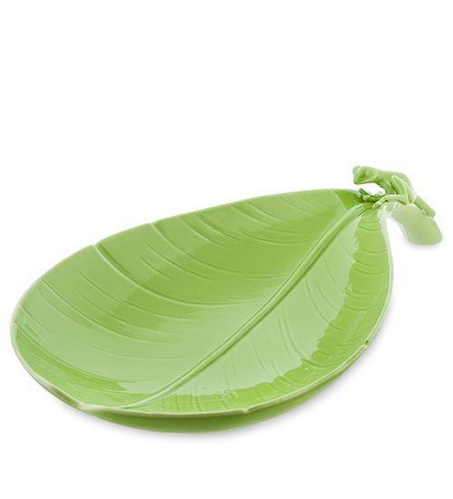 Фруктовница Pavone Тропические лягушки зеленого цвета, фото