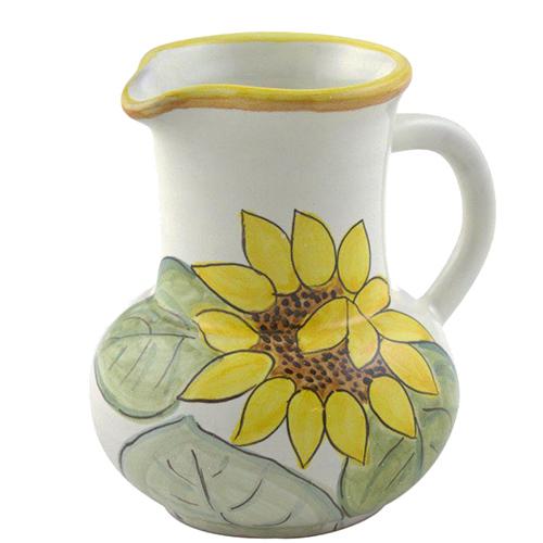 Молочник L'Antica Deruta Подсолнух из керамики, фото
