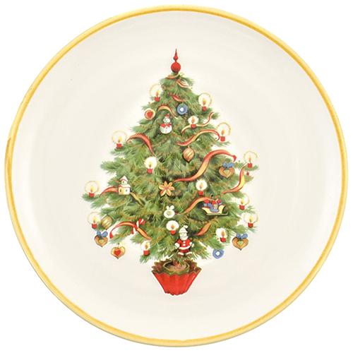 Салатник Villa Grazia Яркое Рождество 23см, фото