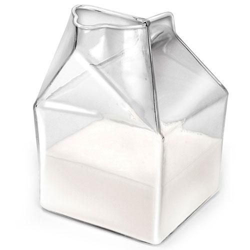 Молочник Fred and Friends в виде распечатанного пакета, фото