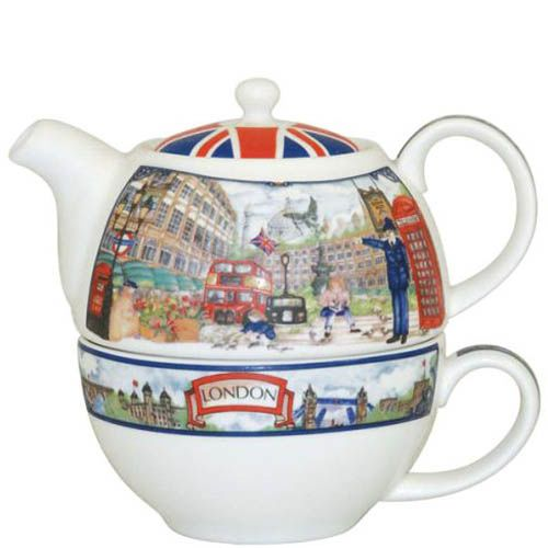 Набор чайник с чашкой Piccadilly street Churchill James Sadler , фото