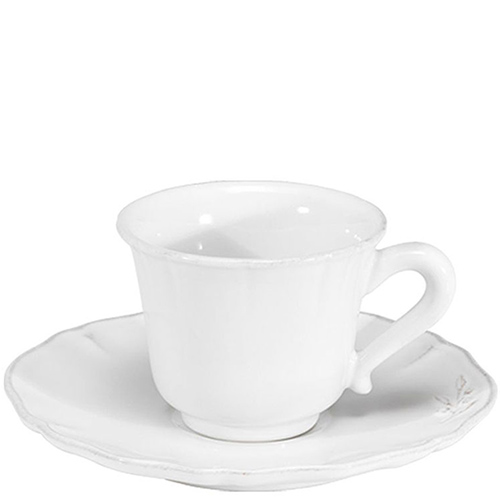 Чашка с блюдцем для чая Costa Nova Alentejo белая 220мл, фото