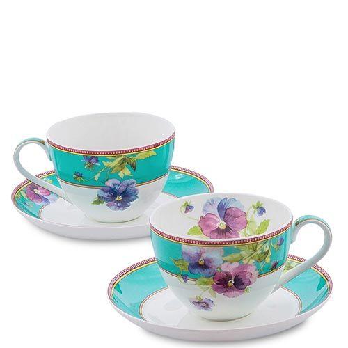 Чайный набор Pavone из фарфора на две персоны Viola, фото