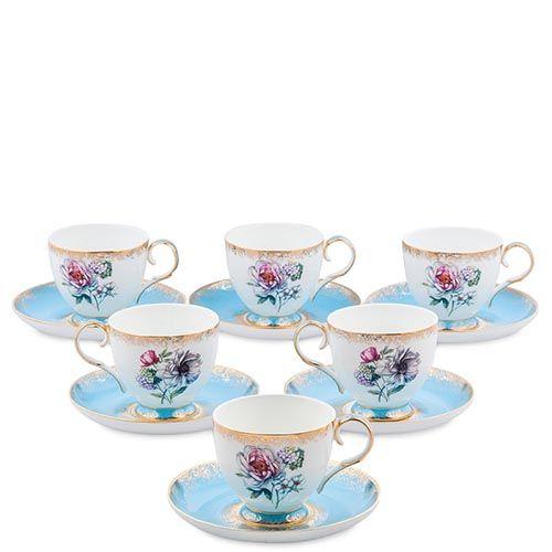 Чайный набор Pavone на шесть персон Цветок Неаполя, фото