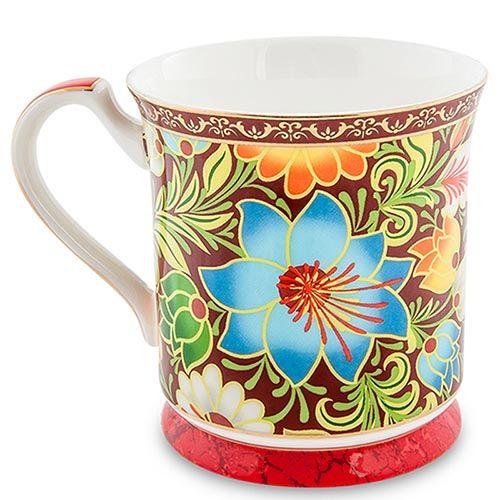Чашка Pavone Цветочный джаз красного цвета, фото
