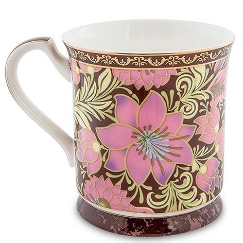 Чашка Pavone Цветочный джаз розового цвета, фото