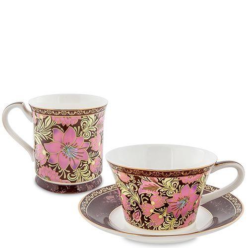 Чайный дуэт Pavone Цветочный джаз с росписью, фото