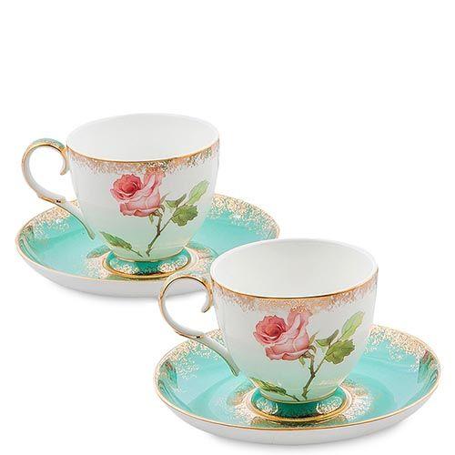 Чайный набор Pavone Milano Rose на две персоны, фото