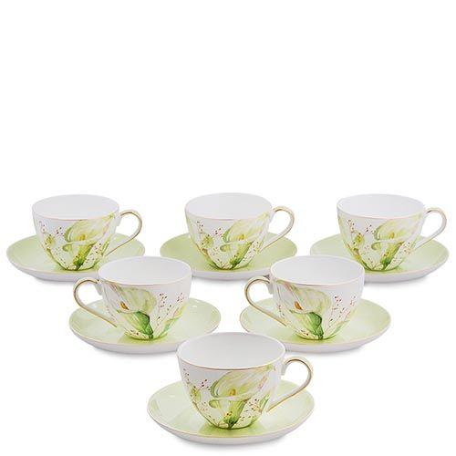 Чайный набор на шесть персон Pavone Calla Charme, фото
