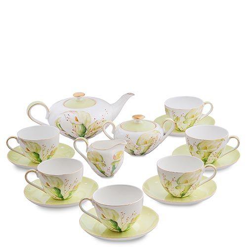 Чайный сервиз на шесть персон Pavone Calla Charme, фото