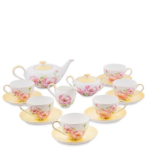 Чайный сервиз на шесть персон Pavone Torino Peony, фото