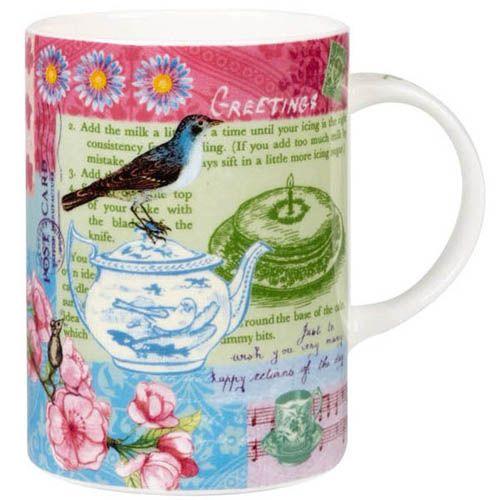 Чашка Churchill Queens объемом 0.275 л цветная с птицей на чайнике, фото