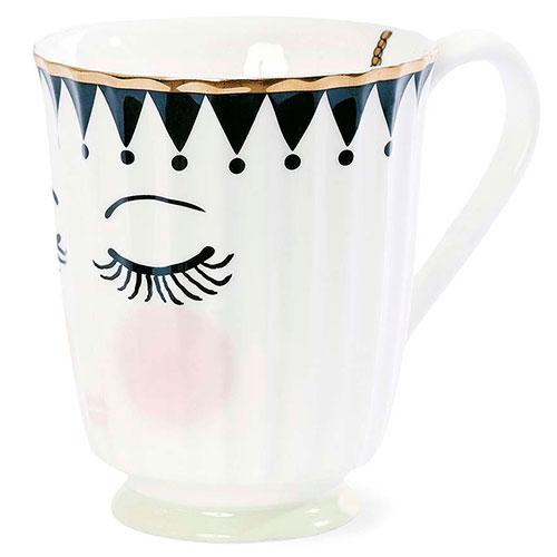 Керамическая кружка Miss Etoile с закрытыми глазками, фото