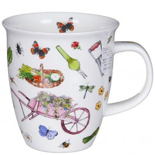 Чашка Dunoon Nevis Gardening Time Тележка с цветами, фото