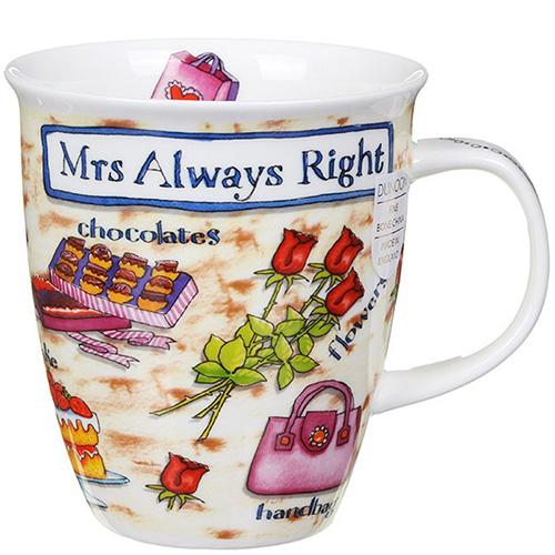 Чашка Dunoon Nevis Mrs. Always Right, фото