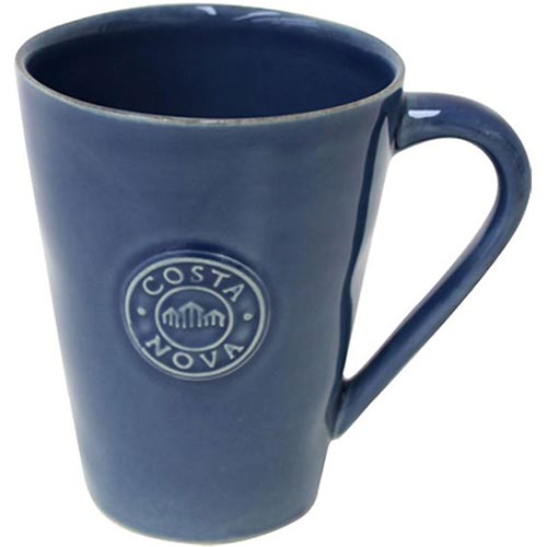 Синяя чашка чайная Costa Nova Nova 360мл, фото