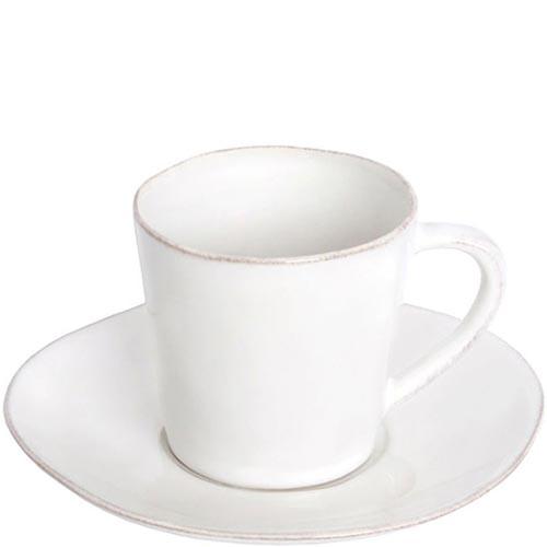 Белая чашка с блюдцем для чая Costa Nova Nova 190мл, фото