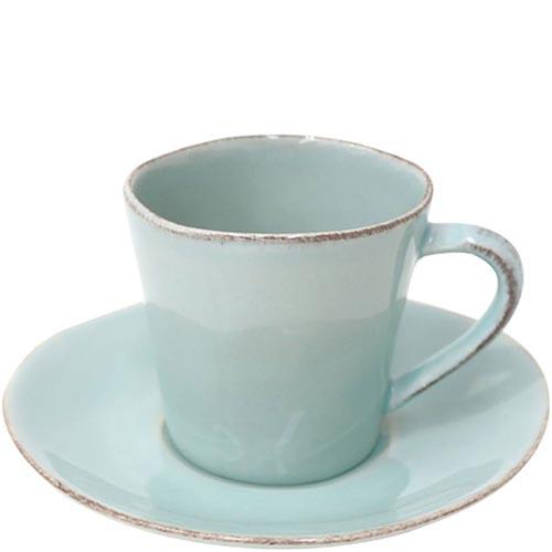 Чашка с блюдцем для чая Costa Nova Nova голубая 190мл, фото