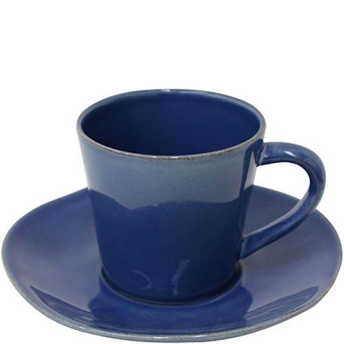 Синяя чашка с блюдцем для чая Costa Nova Nova 190мл, фото