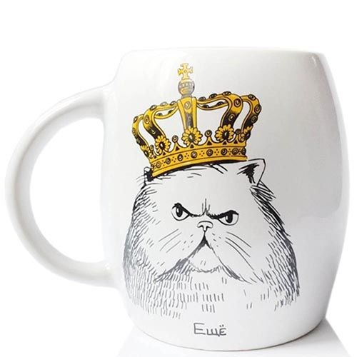 Чашка Orner Store Кот в короне, фото