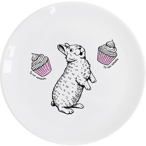 Тарелка Orner Store Кролик-сладкоежка, фото