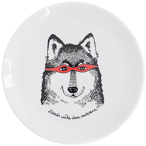 Тарелка Orner Store Волк-разбойник, фото
