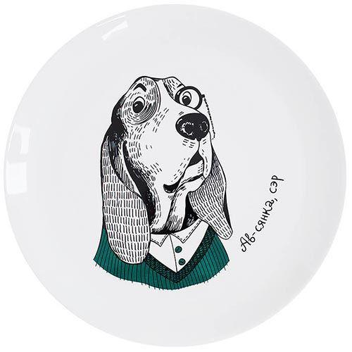 Тарелка Orner Store Собака-дворецкий, фото