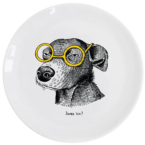 Тарелка Orner Store Собака видит все, фото