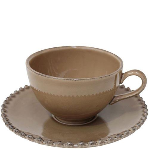 Набор из 6 чашек и блюдец Costa Nova Pearl коричневого цвета, фото