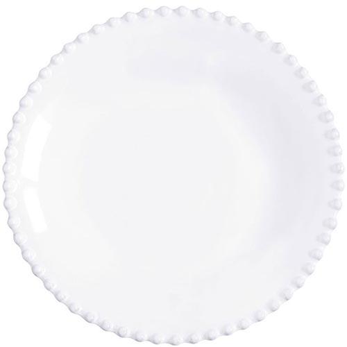 Набор из 6 ти тарелок для супа Costa Nova Pearl белого цвета 24см, фото