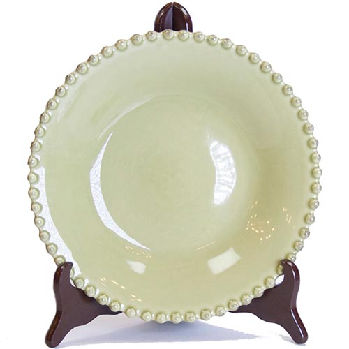Тарелка для супа Costa Nova Pearl зеленая 24см, фото