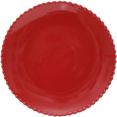 Тарелка красная Costa Nova Pearl 28см, фото
