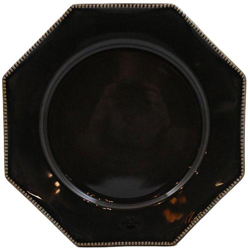 Тарелка обеденная Costa Nova Luzia темно-серая 30см, фото