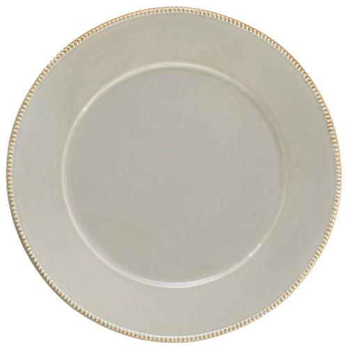 Серая тарелка подставная Costa Nova Luzia 34см, фото