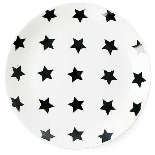 Тарелка Miss Etoile с черными звездами 17см, фото