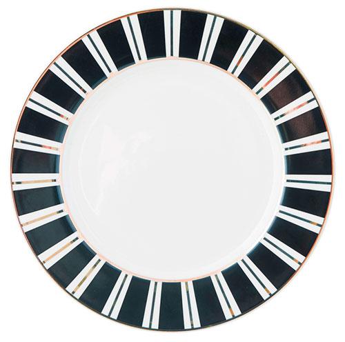 Тарелка Miss Etoile в черную полоску, фото