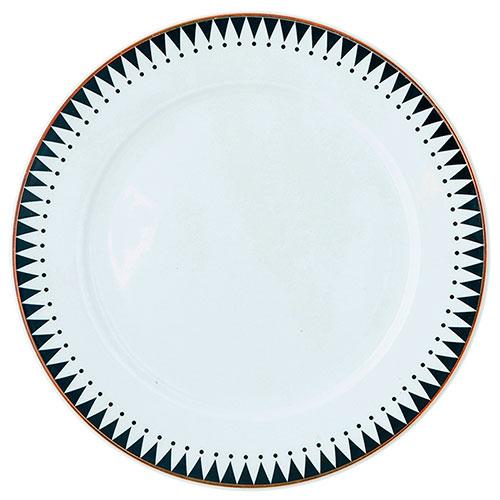 Тарелка Miss Etoile с черным принтом-кантом, фото
