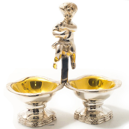 Менажница Royal Family Шеффилд с двумя чашами, фото