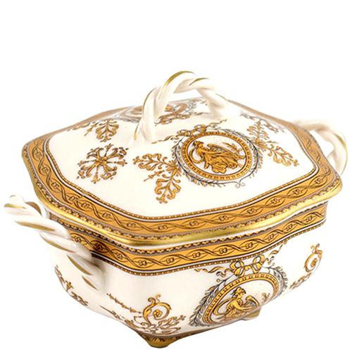 Сахарница Royal Family Oro Antico керамическая с позолотой, фото