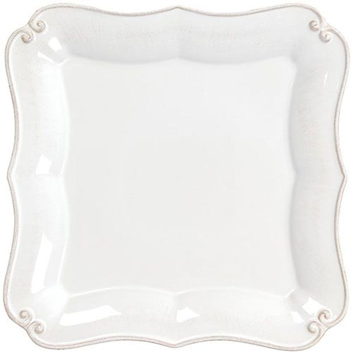 Белая обеденная тарелка Costa Nova Barroco 27х27см, фото