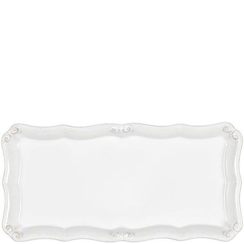 Блюдо прямоугольное Costa Nova Barroco 30х15см белое, фото