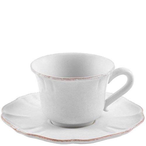 Чашка с блюдцем белая Costa Nova Impressions, фото