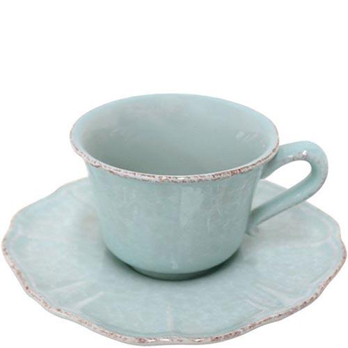 Набор из 6 чайных чашек с блюдцами Costa Nova Impressions голубого цвета, фото