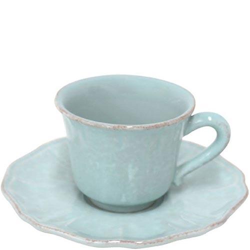 Набор из 6 кофейных чашек с блюдцами Costa Nova Impressions голубого цвета, фото