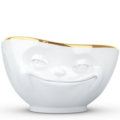 Пиала Tassen Grinning белая с золотым ободком, фото