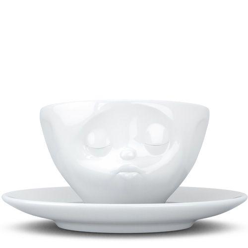 Чашка с блюдцем Tassen Kissing белого цвета для эспрессо и макиато, фото