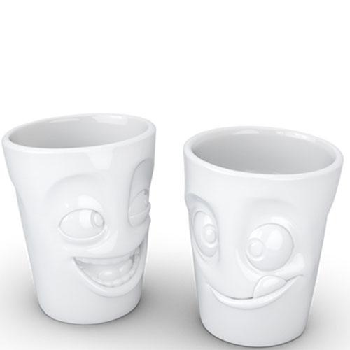Набор чашек Tassen Joking&Tasty белого цвета из 2 штук, фото