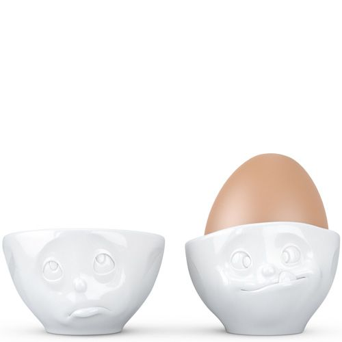 Набор Tassen Oh Please! Yummy из двух белых подставок для яиц, фото