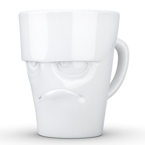 Чашка c ручкой Tassen Grumfy глянцевая белая, фото